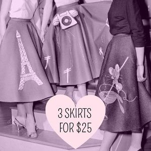 3 SKIRTS FOR $20 SALE: REDUCED